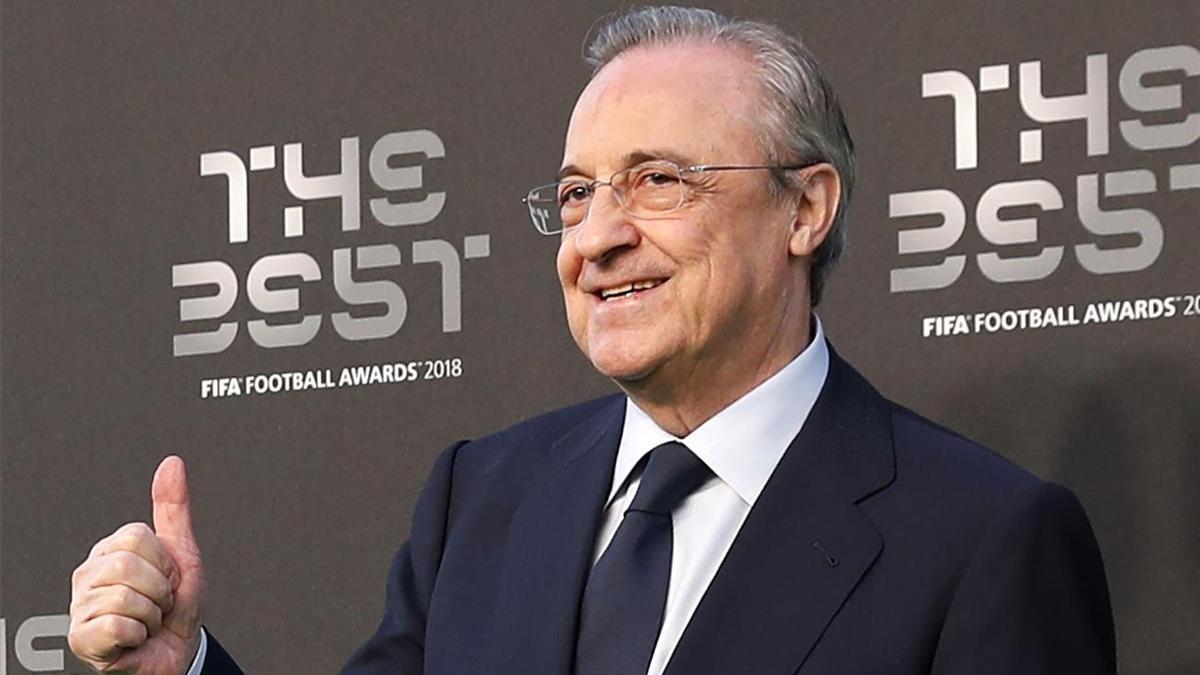 Florentino Pérez, presidente del Real Madrid y de ACS, en la gala de los premios The Best de la FIFA del 2018.