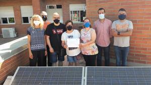 L'Ajuntament de Mollet entrega 1.173 euros a l'Escola Sant Vicenç pel projecte A-prenem el Sol