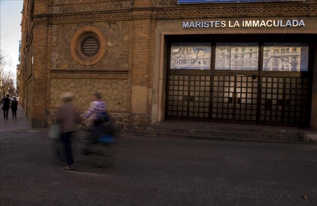 El colegio de los Maristas de La Immaculada, en el Eixample de Barcelona.
