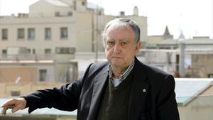 Rafael Chirbes, en Madrid, en el 2014, cuando recogió el Premio Nacional.