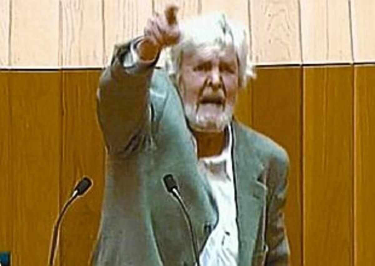 Xosé Manuel Beiras, en el Parlamento gallego (La Sexta).