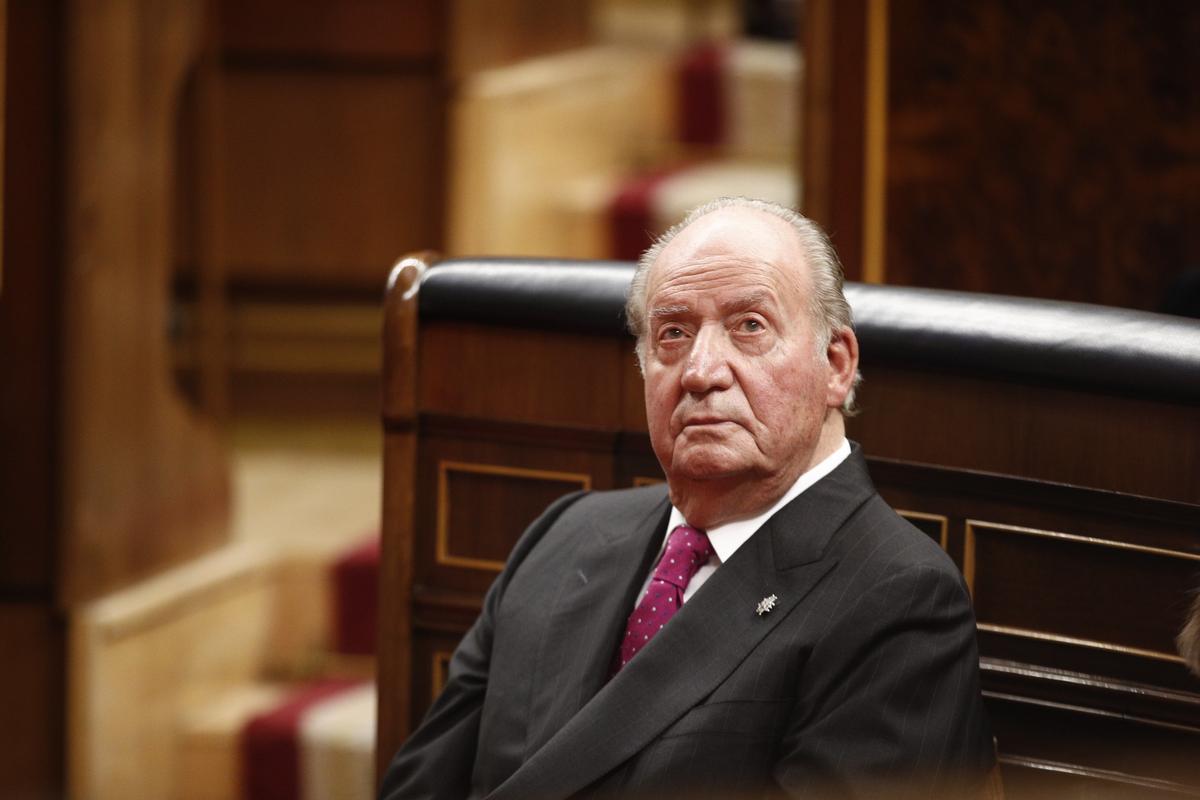 El rey emérito, en el acto por el 40º aniversario de la Constitución, el 6 de diciembre de 2018.