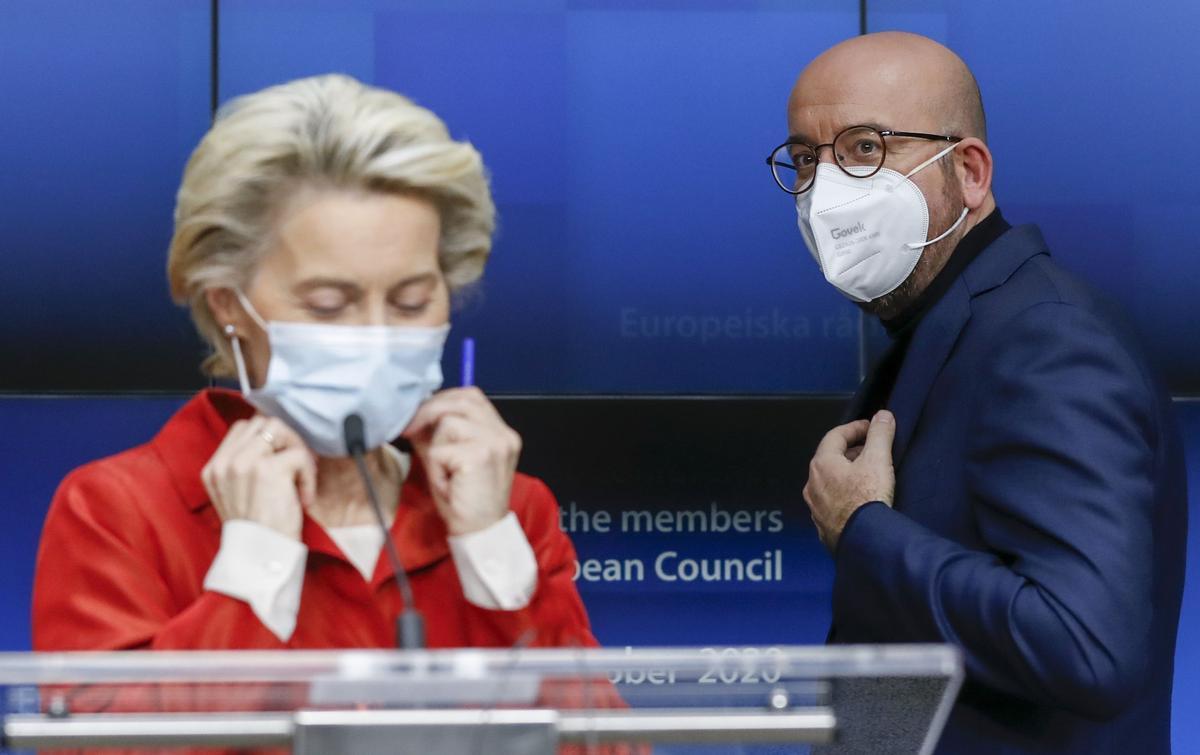 Ursula von der Leyen y Charles Michel, el pasado octubre en Bruselas.