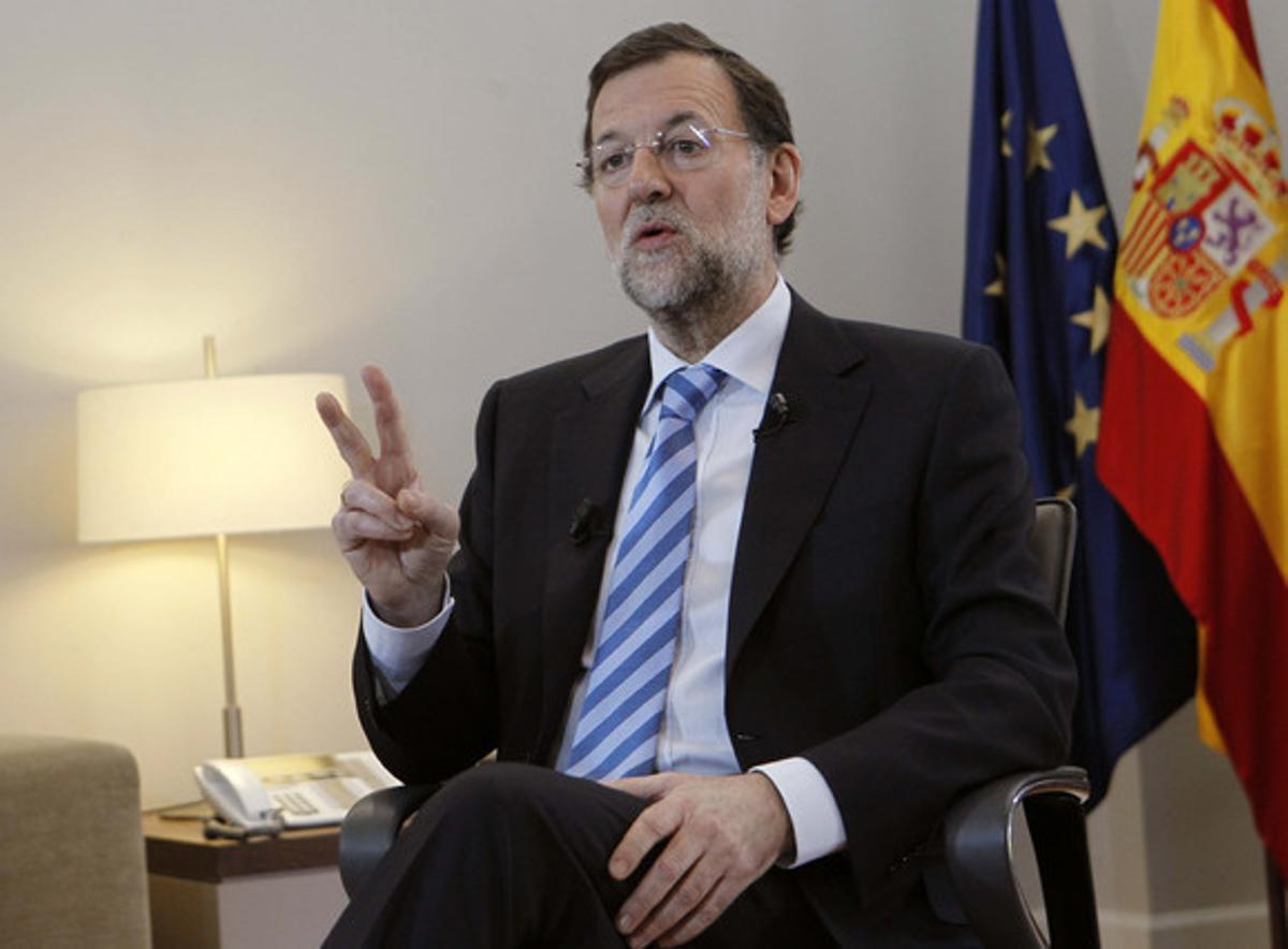 Mariano Rajoy durante la entrevista con EFE.