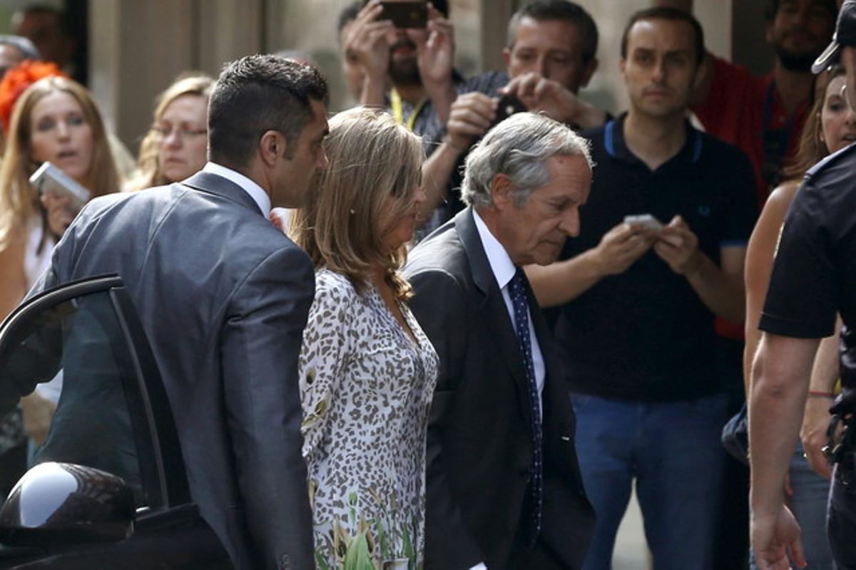 La mujer de Bárcenas, Rosalia Iglesias, a su llegada a la Audiencia Nacional.