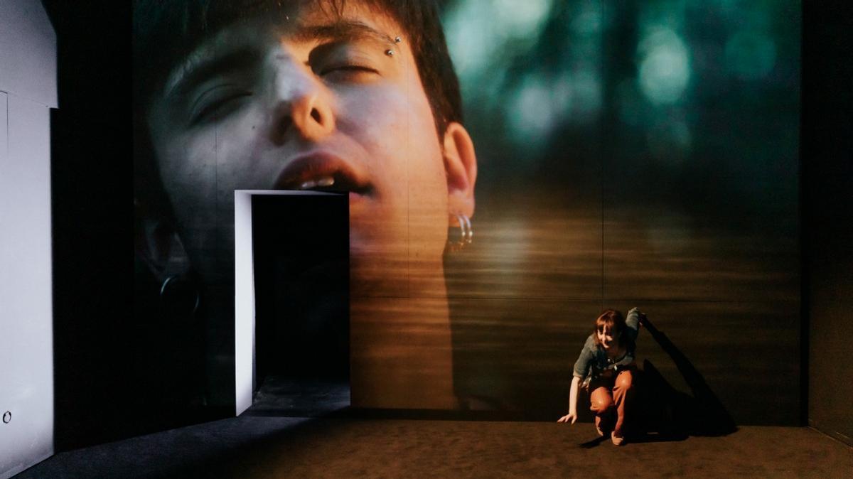 En la pantalla se muestran imágenes del chico mientras la madre cuenta su historia.