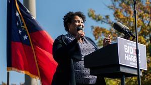 Stacey Abrams en un mirin de campaña en Atlanta el pasado 2 de noviembre.
