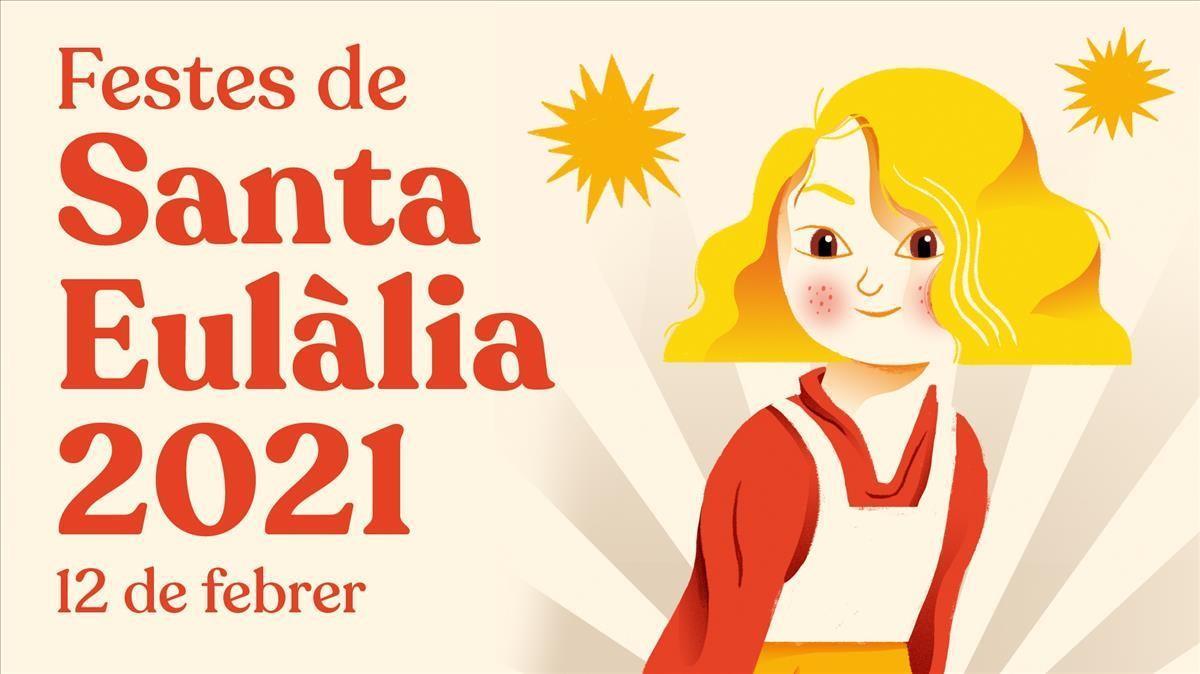 Cartel de las fiestas de Santa Eulàlia.