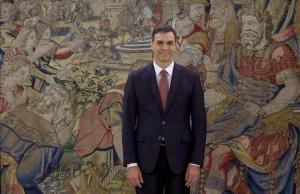 Pedro Sánchez, en el palacio de la Zarzuela