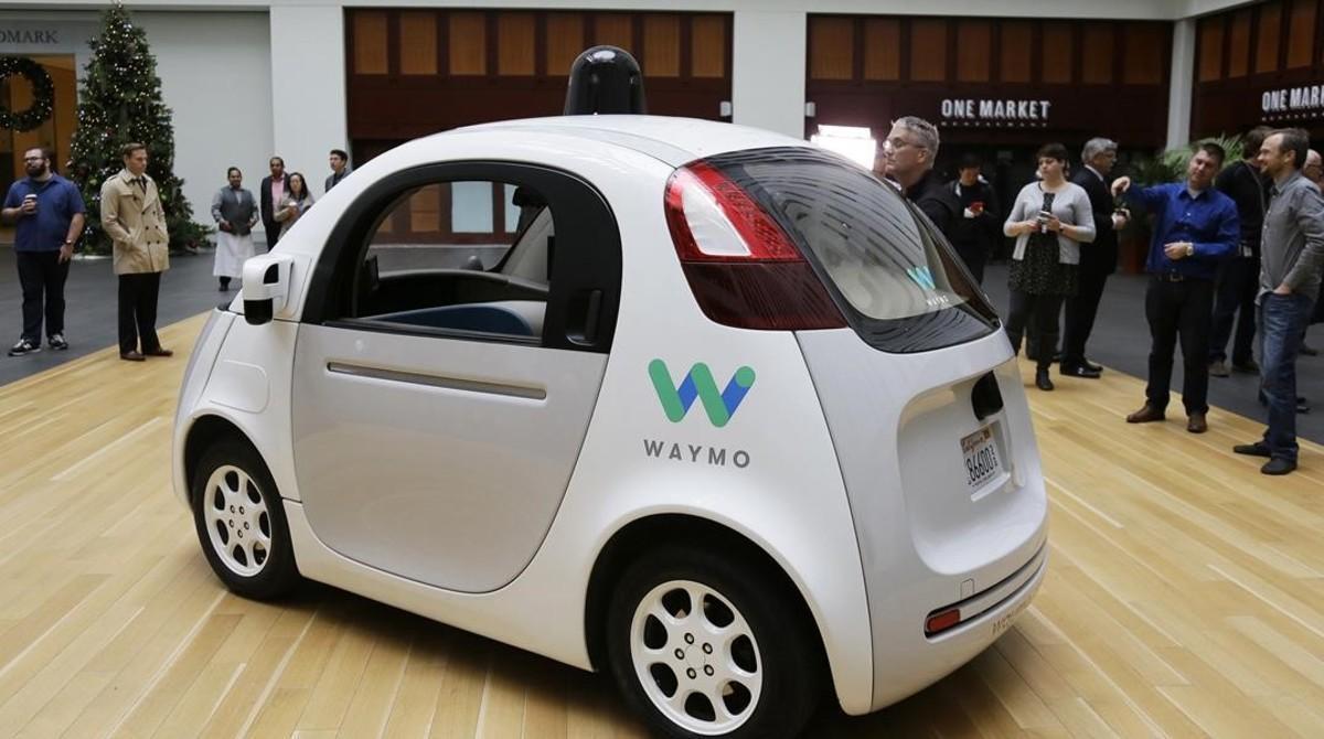 El prototipo de coche autónomo de Waymo, la filial de Google, en San Francisco.