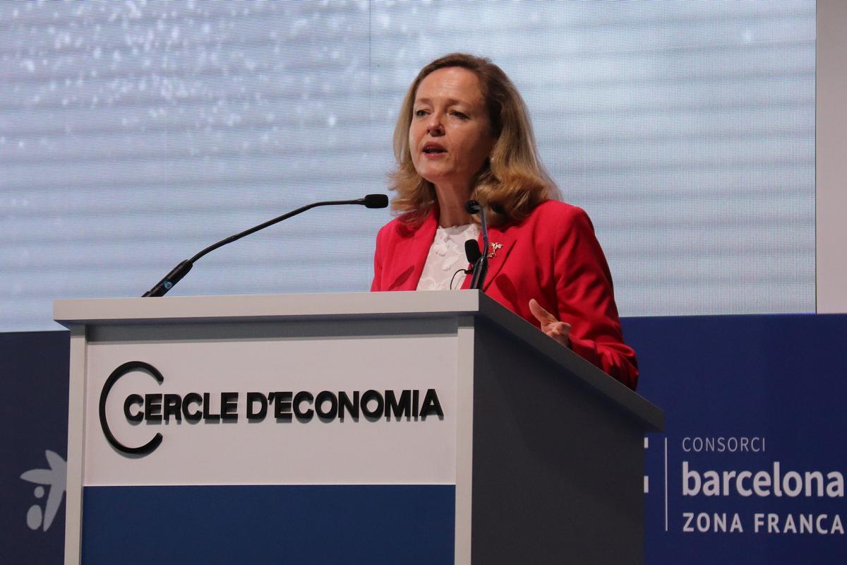 La vicepresidenta segunda y ministra de Economia i Transformación Digital del Gobierno central, Nadia Calviño.