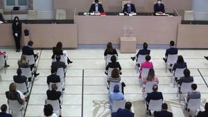 Sesión de apertura de la nueva legislatura en el Parlament.