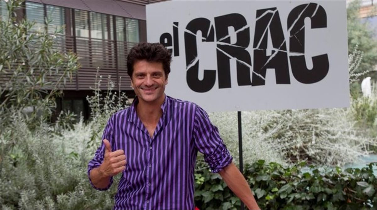 Joel Joan, en la presentación de 'El crac'.