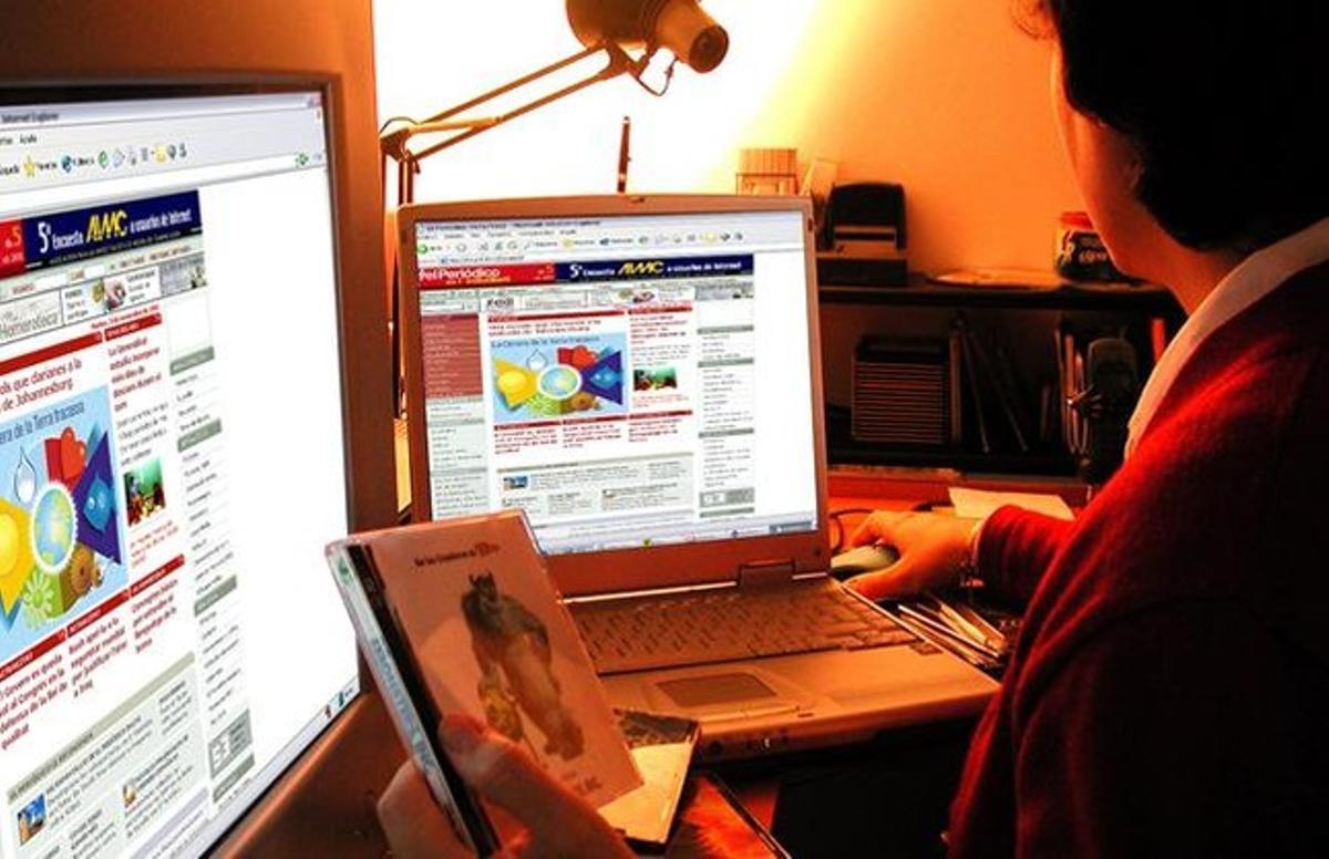 Una mujer navega por internet.