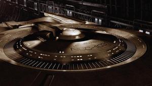 Espectacular imagen de la nueva nave 'Entreprise', ahora denominada 'Discovery', que aparece en la serie 'Star Trek: Discovery'.