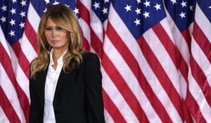 La todavía primera dama de EEUU, Melania Trump.