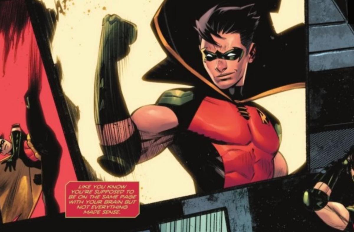 Robin en una de las viñetas