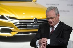 Winterkorn, en la rueda de prensa anual de VW en Berlín, en el 2015.