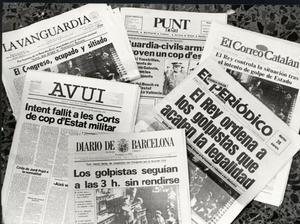Portadas de la prensa catalana el 23-F
