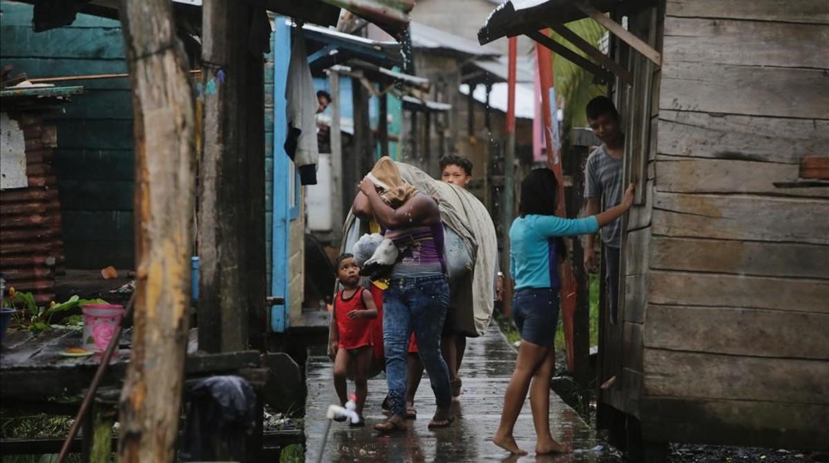 Evacuaciones en Nicaragua por el huracán Otto.