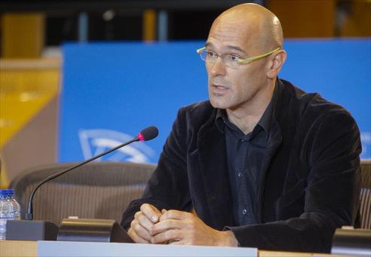 Romeva, en una sesión del Parlamento europeo, hace unos meses.