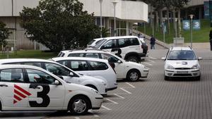 Parque automovílistico de TV-3, principal empresa de la Corporació Catalana de Mitjans Audiovisuals (CCMA).