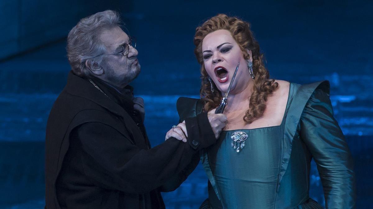 Un momento de 'Don Carlo' con Plácido Domingo.