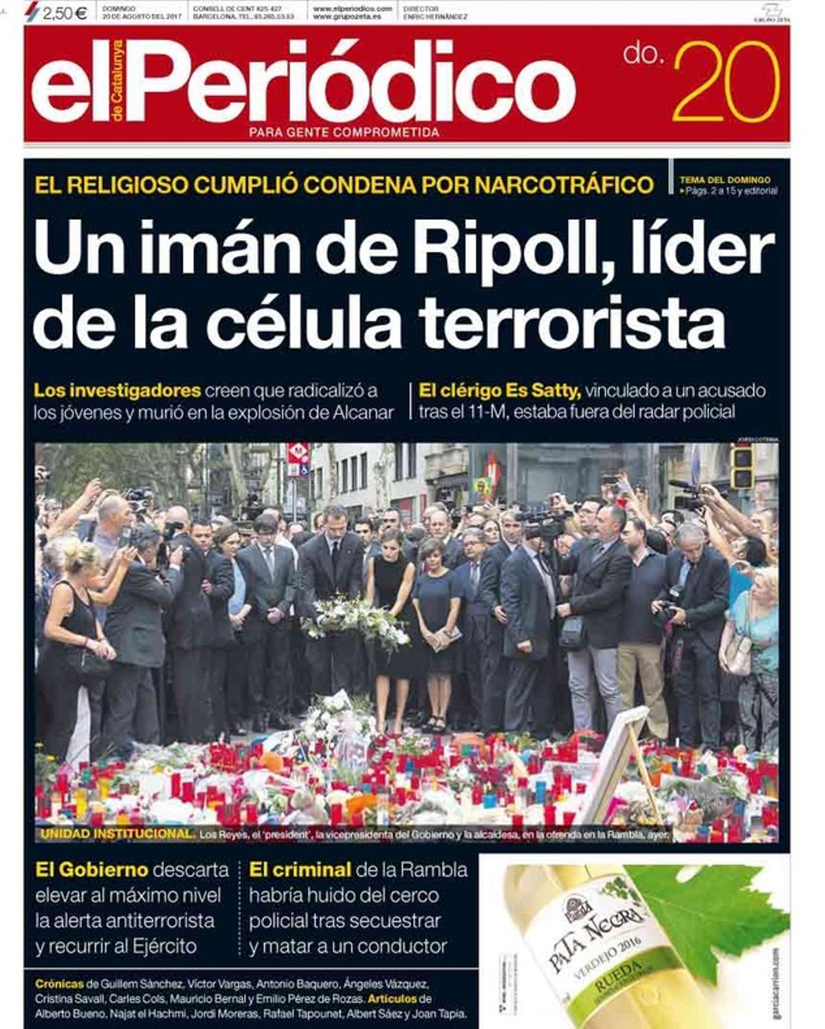 El mosso que mató a los cuatro yihadistas de Cambrils fue legionario, según 'El Mundo'