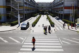Entrada del hospital Infanta Leonor de Vallecas.