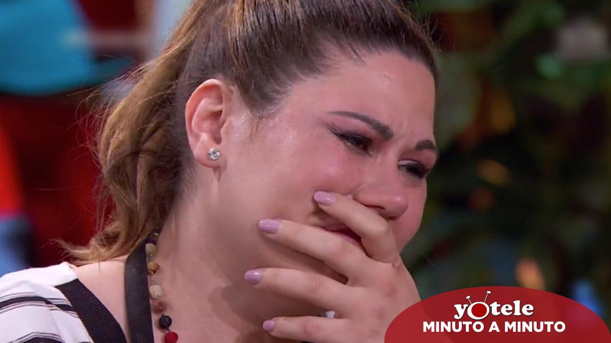 Tamara, emocionada tras ser expulsada de 'Masterchef Celebrity 6'.