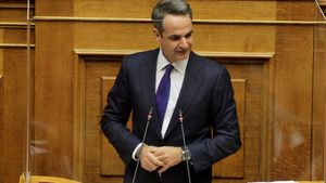 El primer ministro de Grecia, Kyriakos Mitsotakis.