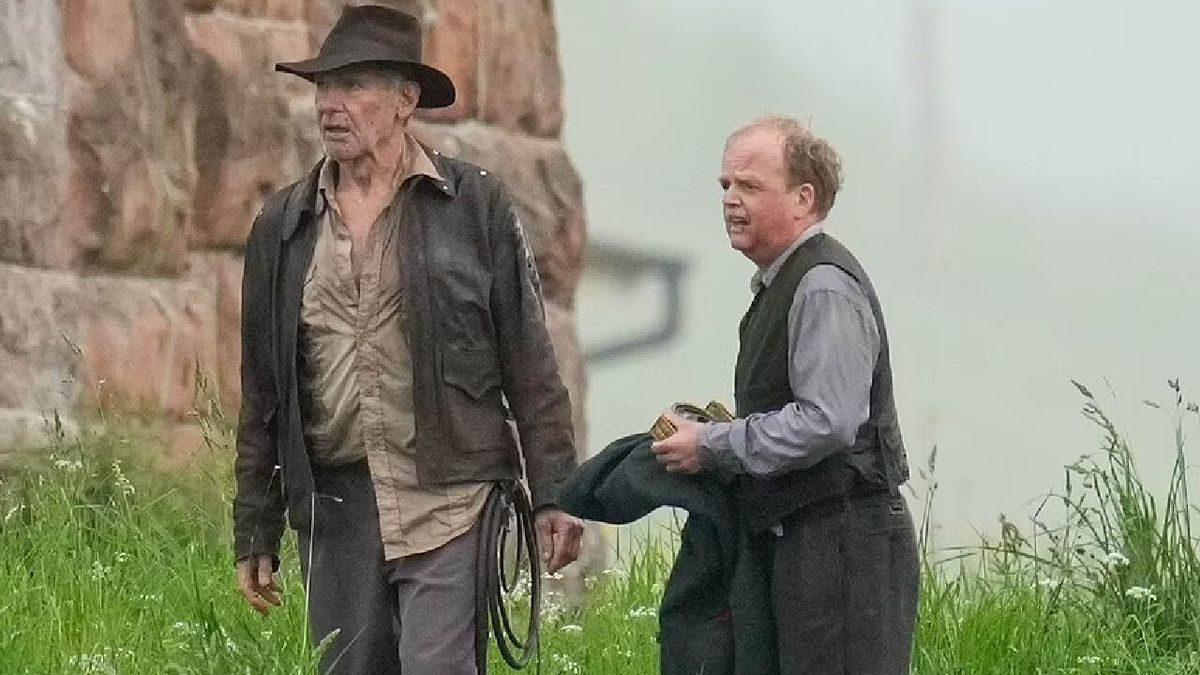 Harrison Ford, durante el rodaje de 'Indiana Jones 5'.