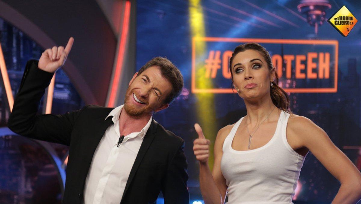 Pablo Motos y Pilar Rubio en el exitoso programa de A-3 'El Hormiguero'.