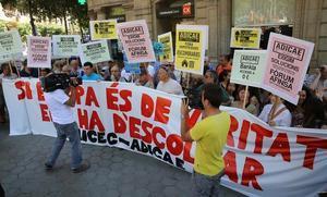 Concentración de afectados por preferentes y cláusulas suelo hipotecarias en Barcelona