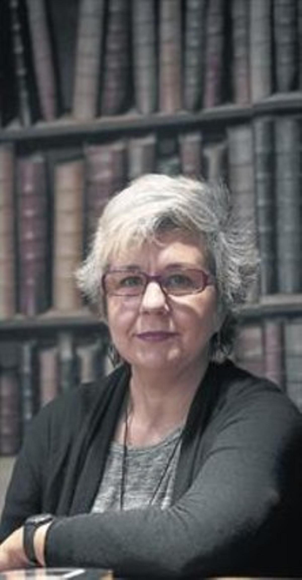 Teresa Solana, hace unos días en la librería Laie de Barcelona.