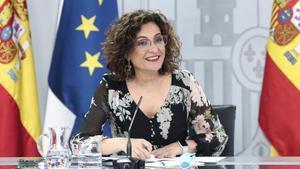 María Jesús Montero, este martes en la Moncloa.