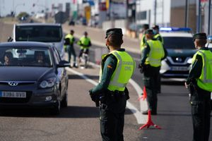 Control de movilidad de la Guardia Civil en Salamanca, 17 octubre 2020