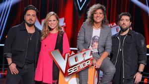 Los coaches de 'La voz senior'.