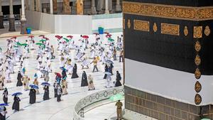 El coronavirus reduce la peregrinación a La Meca.
