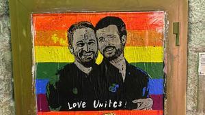 La obra de TV Boy para el Orgullo Gay, en Barcelona.