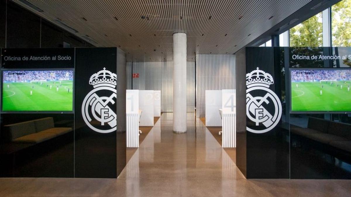 Oficinas de atención al socio del Madrid.