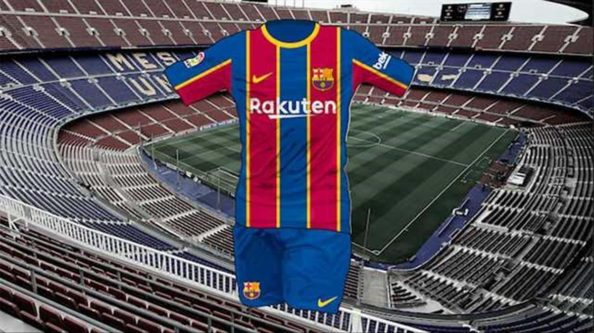 El diseño de la próxima camiseta del Barça, según 'Sport'.
