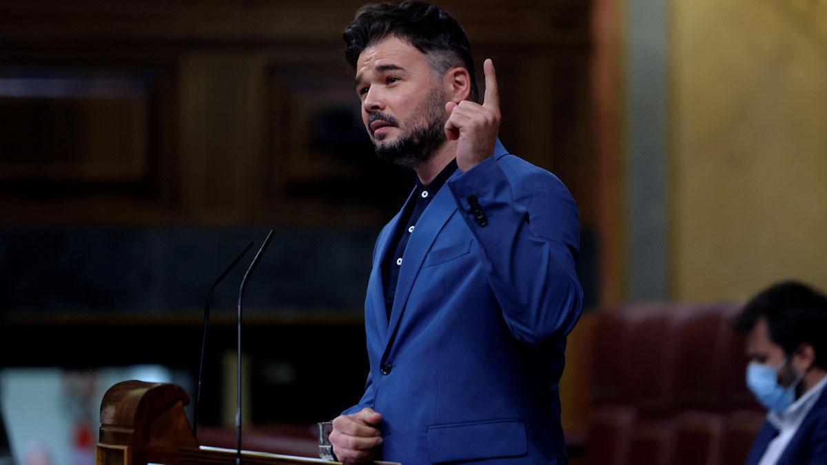 Rufián ante el no de Sánchez al referéndum: Negó los indultos, denos tiempo.