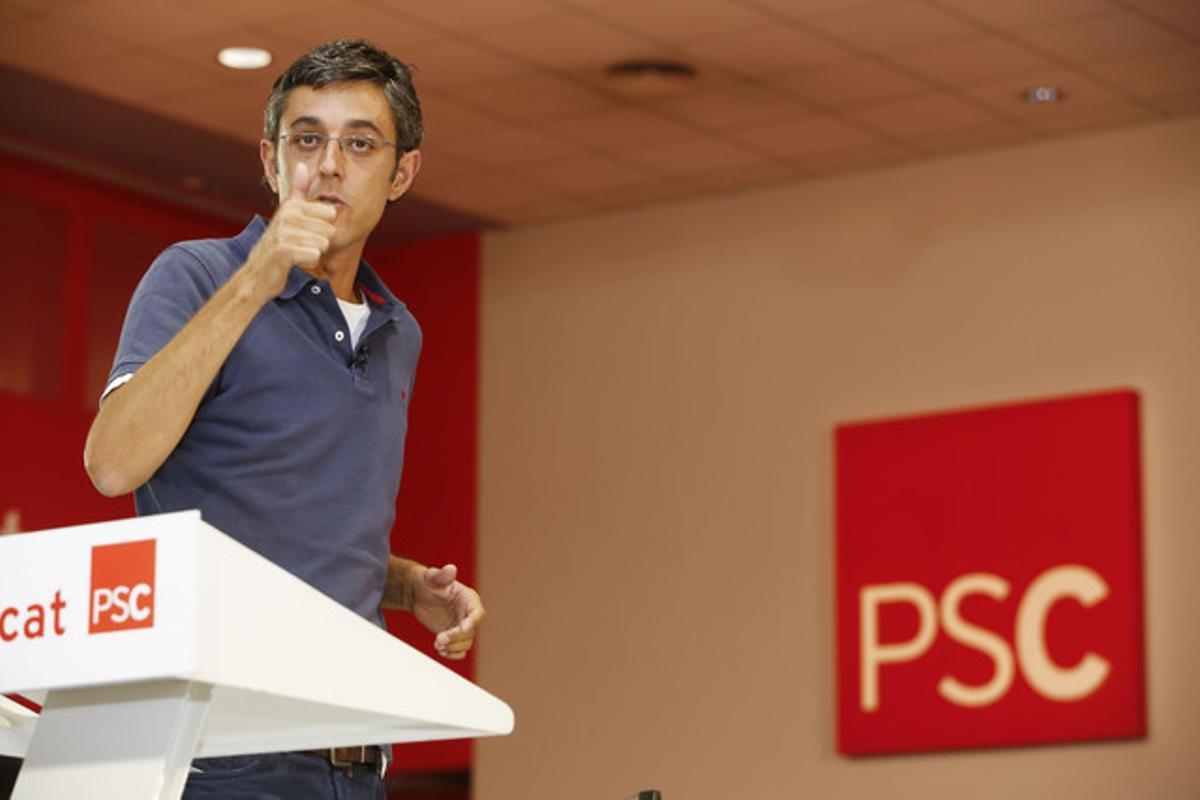 El diputado Eduardo Madina, coordinador de la ponencia política del PSOE.