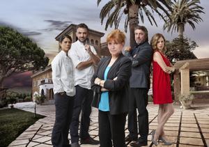 Los actores principales de 'La Riera'.