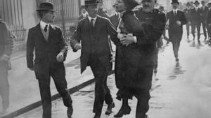 Una de las mujeres integrantes del movimiento sufragista