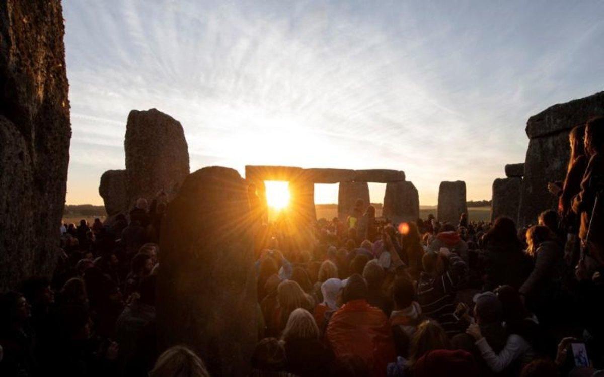 Rituales en Stonehenge, Inglaterra, durante el solsticio de verano.