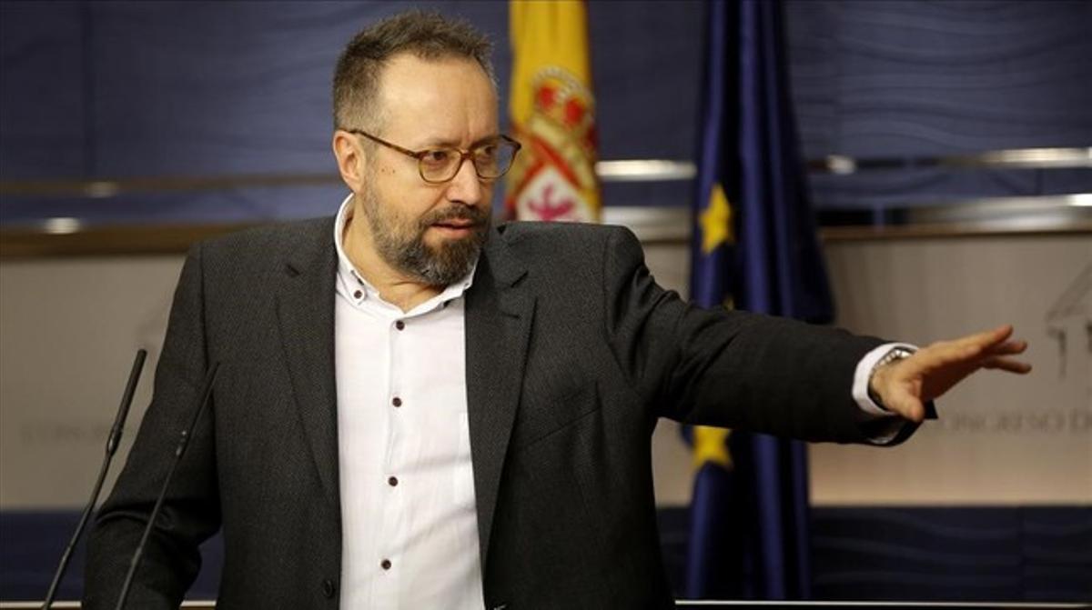 El portavoz de Ciudadanos en el Congreso, Juan Carlos Girauta, este martes en rueda de prensa.