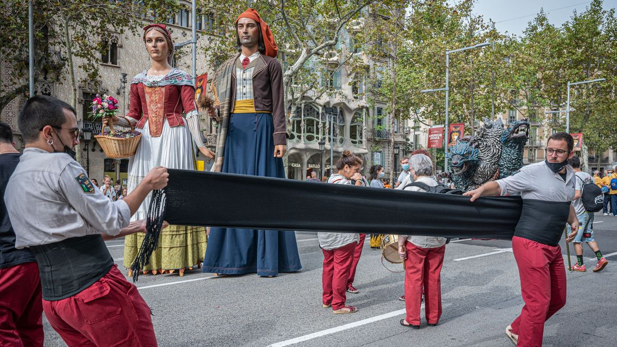 Los 'castells' vuelven a Barcelona un año y medio después