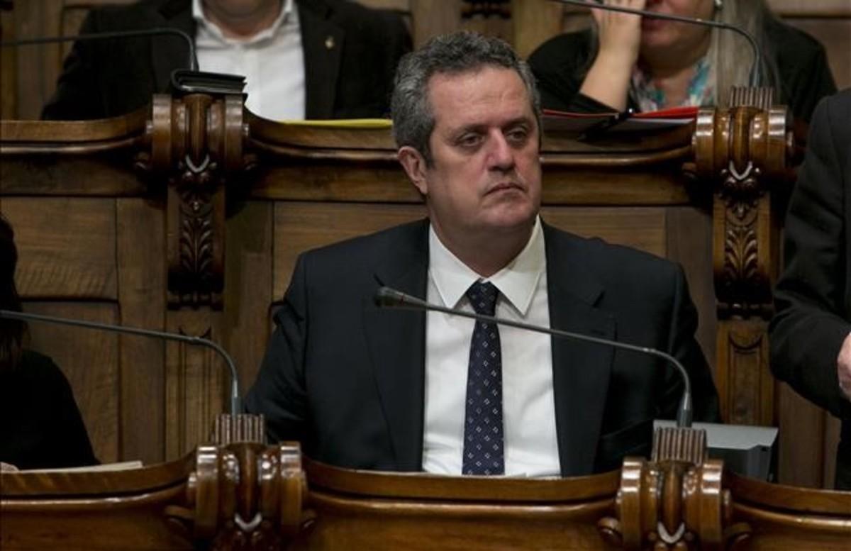 Joaquim Forn, en el Ayuntamiento de Barcelona.